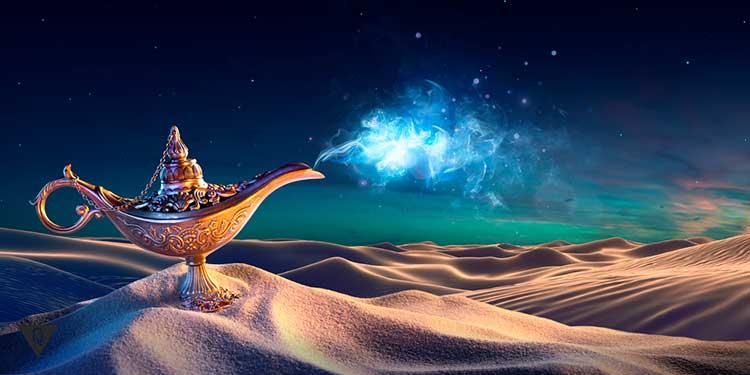 лампа джина в пустыне