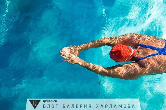 девушка пловец