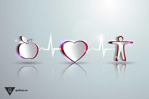 нарисованное яблоко сердце и человек