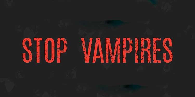 Надпись стоп вампирам