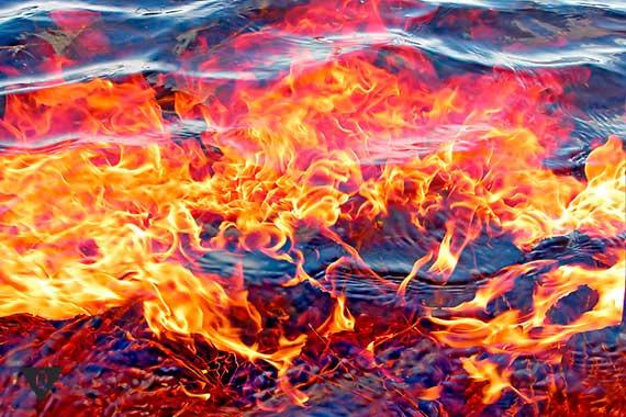 огонь под водой