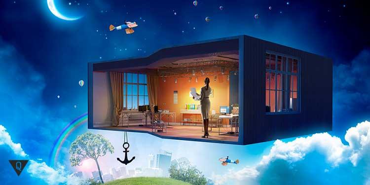 комната в небе над землей