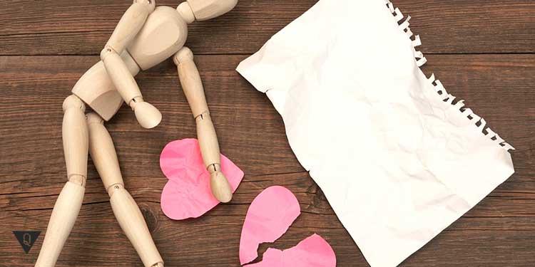 порванное бумажное сердце
