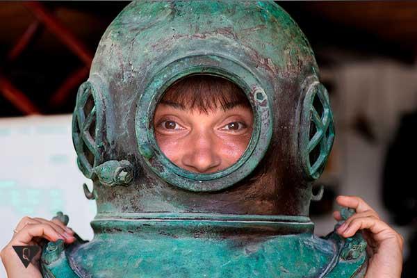 шлем от старого акваланга