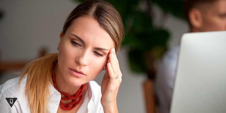 У девушки хроническая усталость