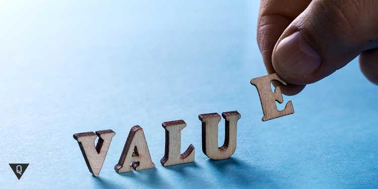 """Надпись на английском """"ценности жизни"""""""