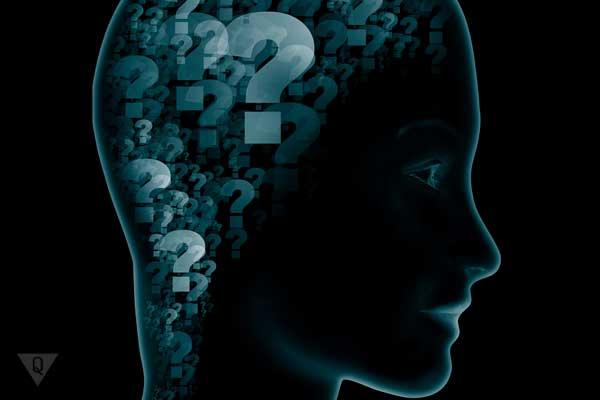 Голова человека со знаками вопроса внутри