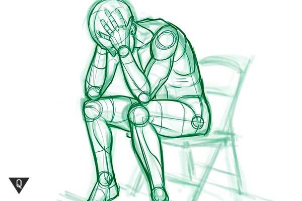 деградация нарисованного человека