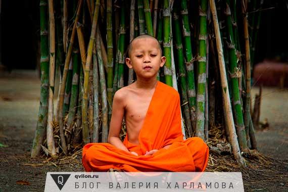 ребенок буддийский монах