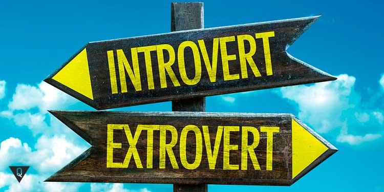надпись на табличках интроверт и экстраверт
