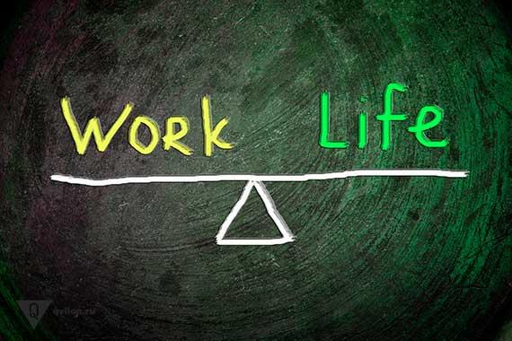 рисунок равновесия работы и жизни