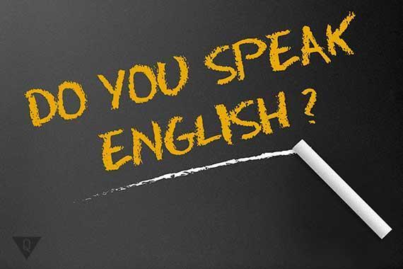 надпись на английском вы говорите по английски?
