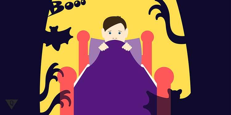 чудовища вокруг кроватки мальчика
