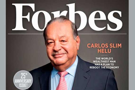 Карлос Слим Элу на обложке журнала Forbes