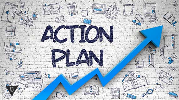 надпись план действий