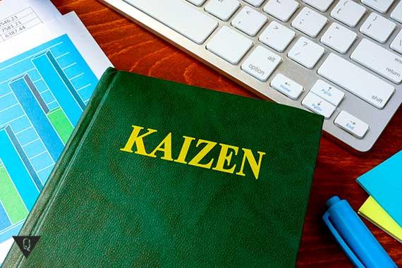 книга с надписью kaizen