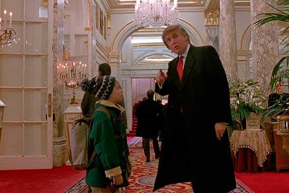Один дома 2 кадр с Дональдом Трампом