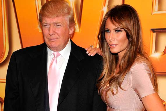 Дональд Трамп с женой