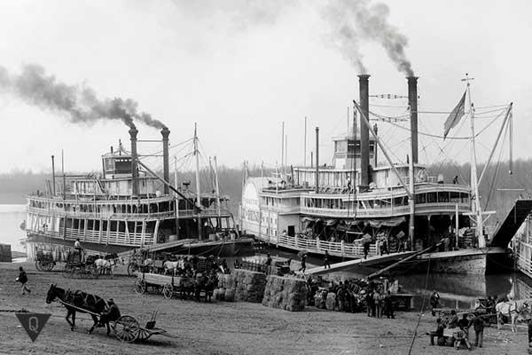 снимок старых пароходов сша