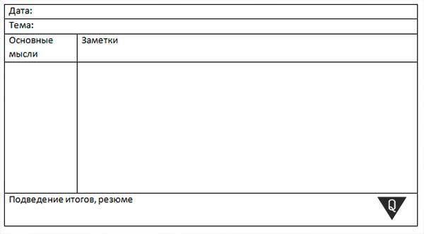 таблица по методу корнела