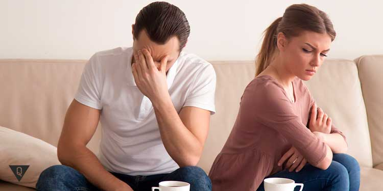 супруга обижается на мужа