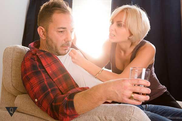 женщина с мужем алкоголиком