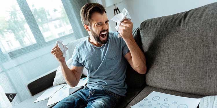 Нервный срыв у мужчины