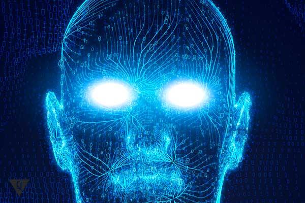 нарисованный человек со светящимися глазами