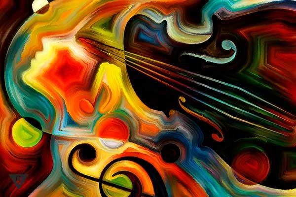 графическое изображение музыки и человека