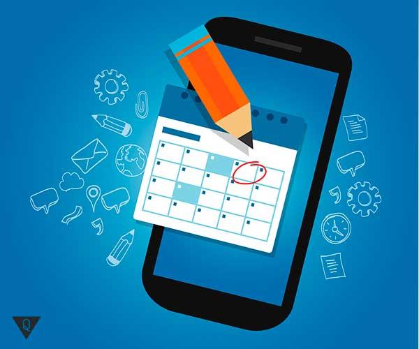 Расписание в мобильном телефоне