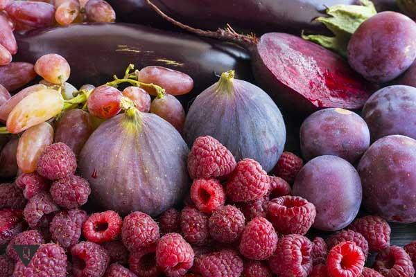 Овощи и фрукты фиолетового цвета