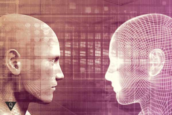 Два человека напротив друг друга, как символ того, что есть эго и суперэго у каждого из нас.
