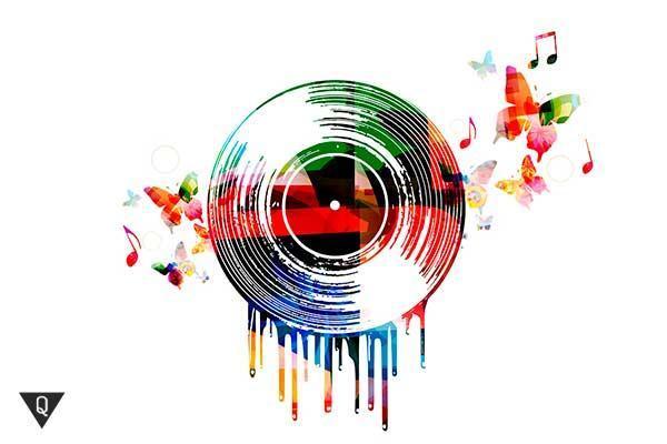 Картина музыкальной пластинки