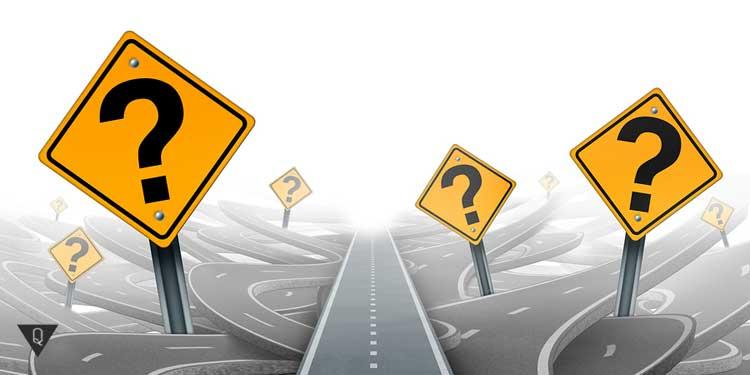 Знаки вопросов, как символ поиска ответов на экзистенциальные вопросы