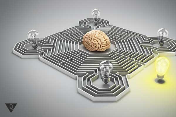 Мозг внутри лабиринта