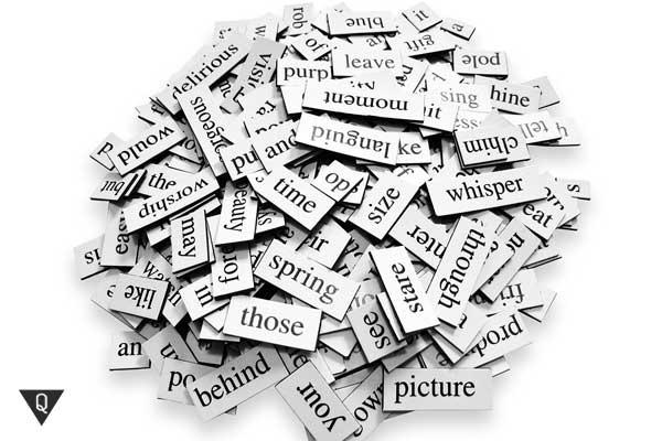 Бумажки со словами на английском
