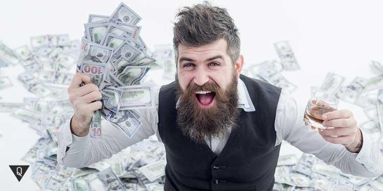 Молодой яппи с деньгами