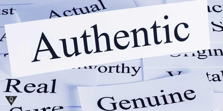 Надпись аутентичность