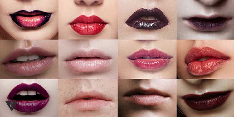 Коллаж из губ разных форм