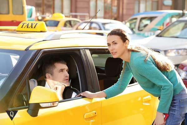 Девушка и таксист
