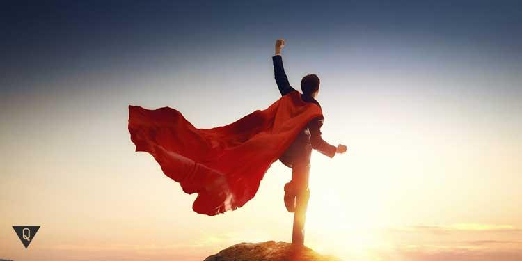 Супергерой на горе