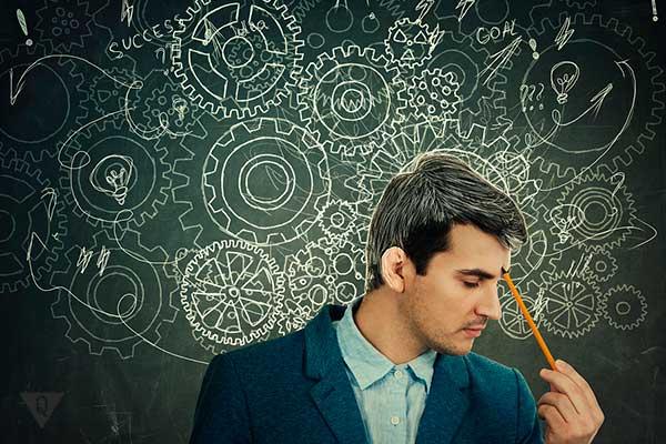 Мыслительный процесс у мужчины