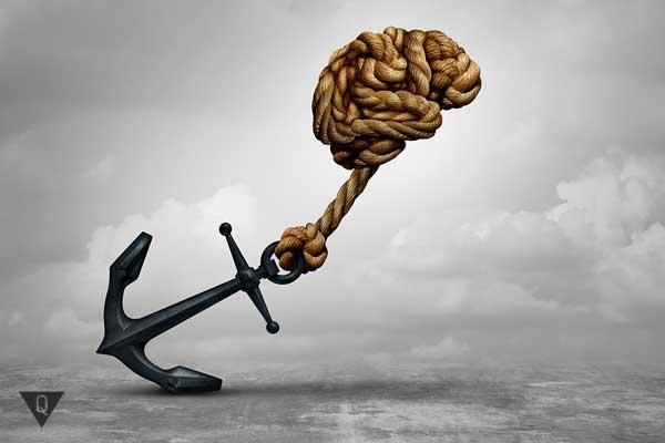 канат в виде мозга тянет якорь