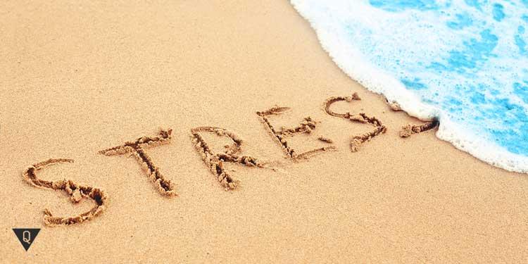 Надпись на песке: тресс