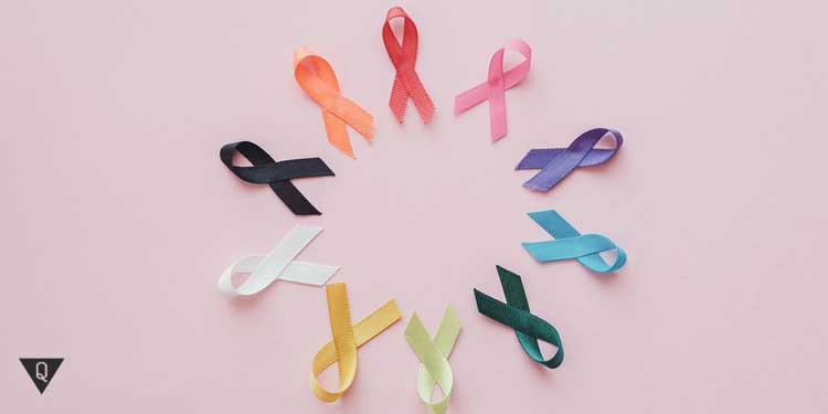 Ленточки символ больных раком