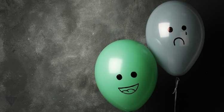 2 воздушных шарика с эмоциями