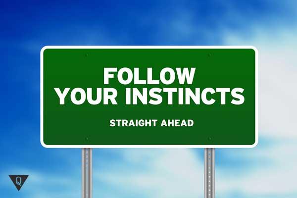 """Надпись """"следуй своим инстинктам"""""""