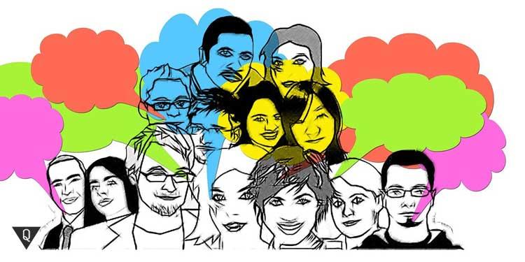 Нарисованные лица людей