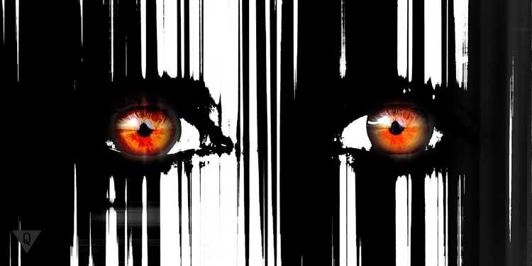 Нарисованные красные глаза