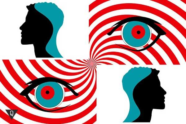 Нарисованные глаза как под гипнозом